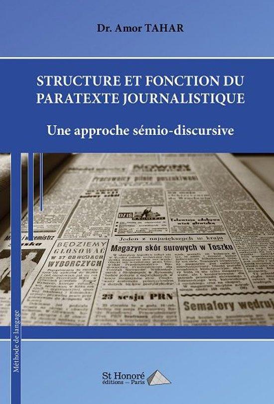 STRUCTURE ET FONCTION DU PARATEXTE JOURNALISTIQUE