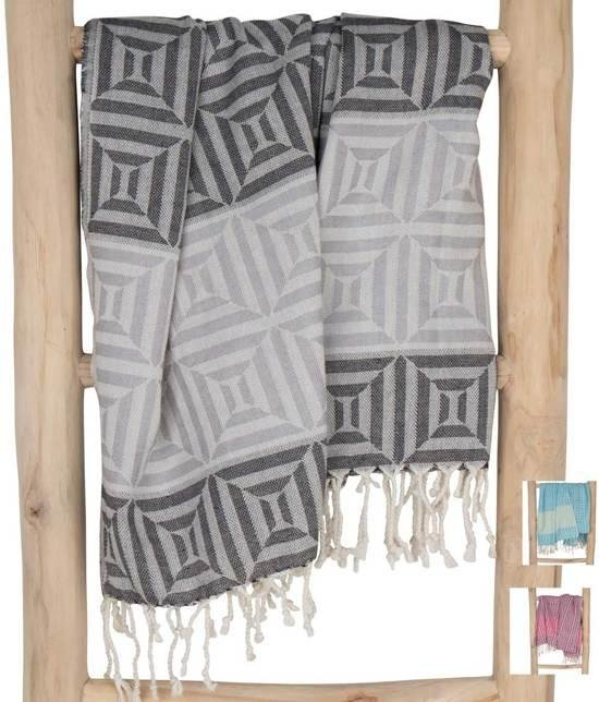 ZusenZomer Hammamdoek xl Square 100 x 200 cm  Hamamdoek sauna hammam handdoek - grijs