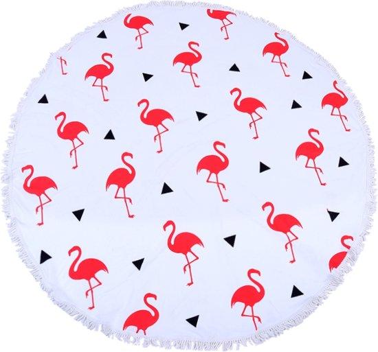 Roundie strandlaken rond - Flamingo Parade