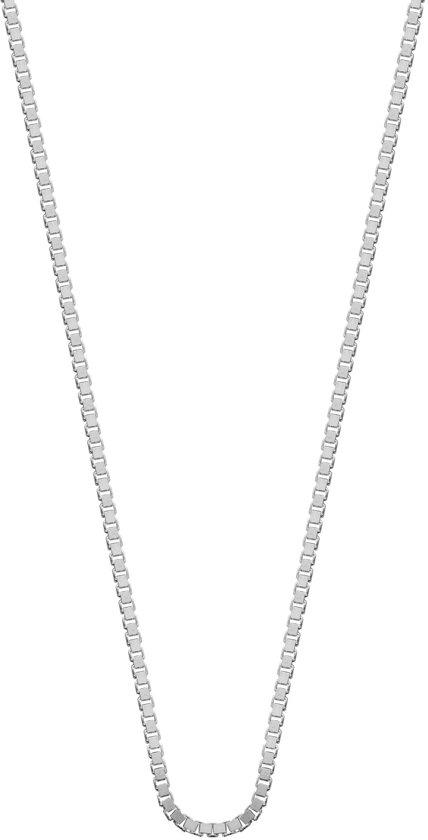 Lucardi - Zilveren ketting met venetiaanse schakel 50 cm