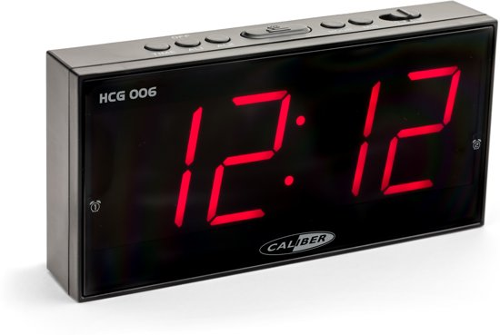 Caliber HCG006 - Wekker met groot display - Zwart