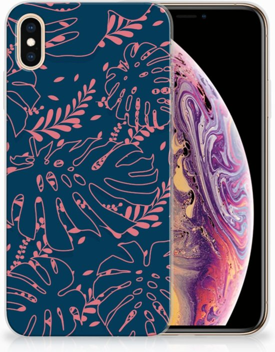 iPhone Xs Max  TPU-siliconen Hoesje Design Palm Leaves
