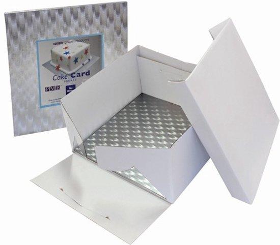 PME Cake Box & Square Cake Board (3mm) 22,5x22,5x15 cm