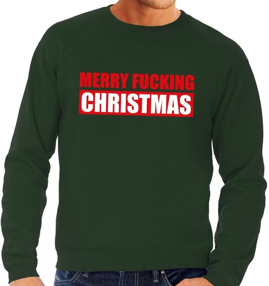Foute Kersttrui Bol.Bol Com Foute Kersttrui Sweater Merry Fucking Christmas Groen