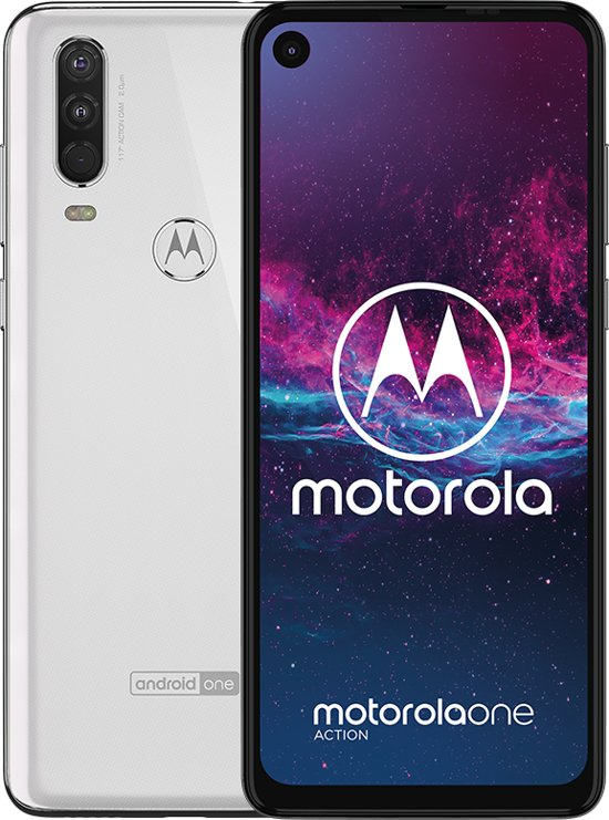 Motorola One Action - 128GB - Parel wit