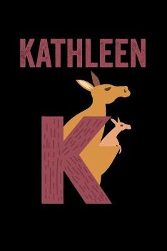 Kathleen: Journal (Diary, Notebook) Personalized Custom Name Alphabet Kangaroo Birthday Gift for Girls