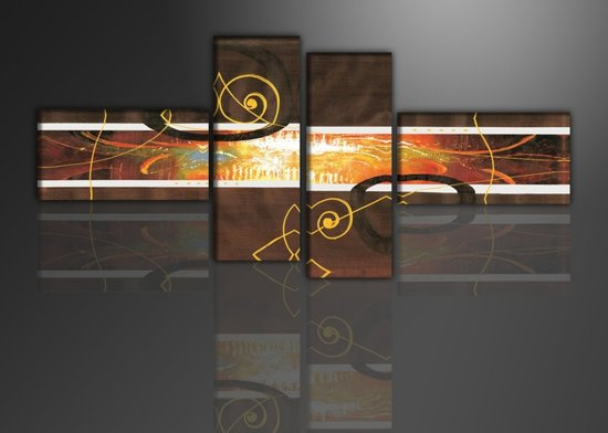 Oracle - Canvas Schilderij Vierluik 195 x 80 cm