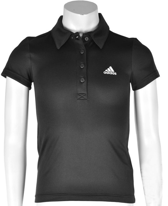 adidas Girls Response Traditional Polo - Sportpolo - Kinderen - Maat 176 - Zwart