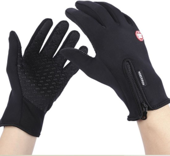 Waterafstotend & Windproof Thermische Touchscreen Handschoenen I Zwart I Large