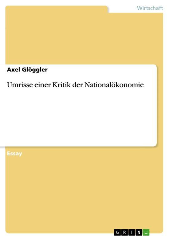 bol.com   Umrisse einer Kritik der Nationalökonomie (ebook), Axel ...