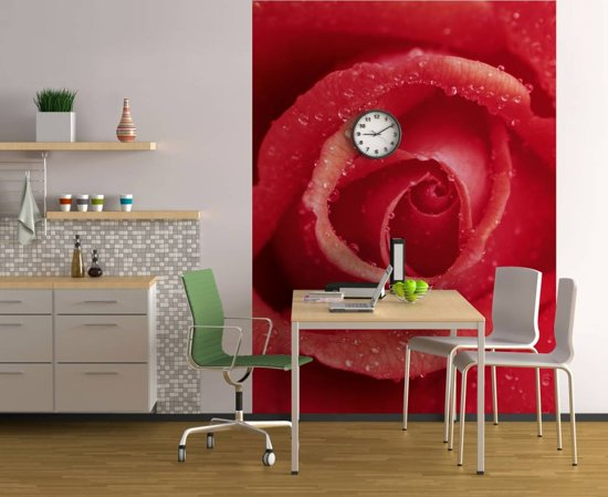 Roos Rood - Fotobehang 183 x 254 cm
