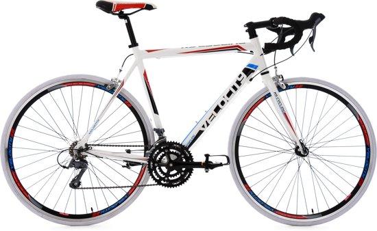 Ks Cycling Racefiets 28 inch racefiets Velocity met 24 versnellingen, wit -