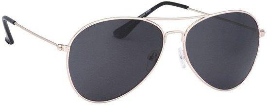 ecdbf63a1a25e3 Pilotenbril lichtgoud met donkere glazen voor volwassenen