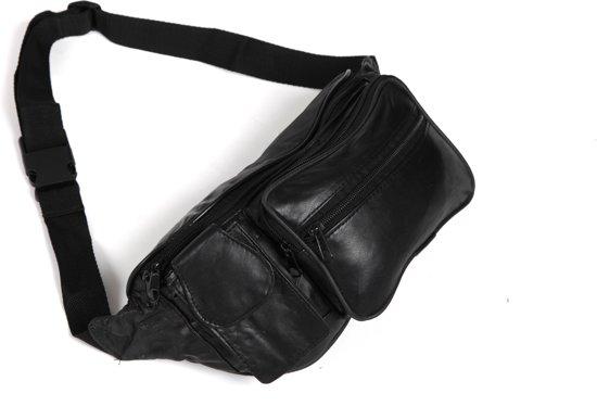 Adventure Bags Leer - Heuptas inclusief telefoonvak - Zwart