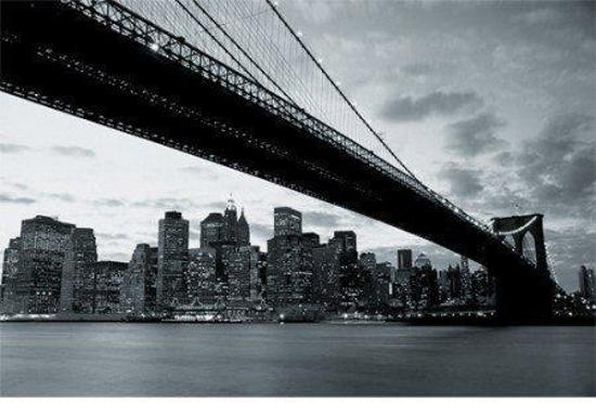bol.com | Skyline Behang New York Black & White voor Salon en ...