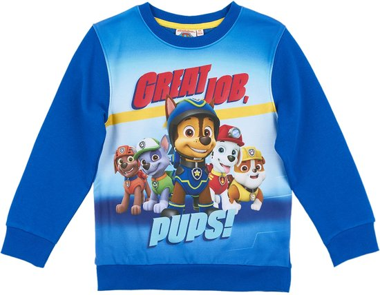 Paw Patrol Sweatshirt-blauw - Maat 110