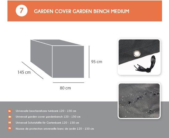 MaximaVida metalen tuinbank Max roestbruin 120 cm- stapelbaar