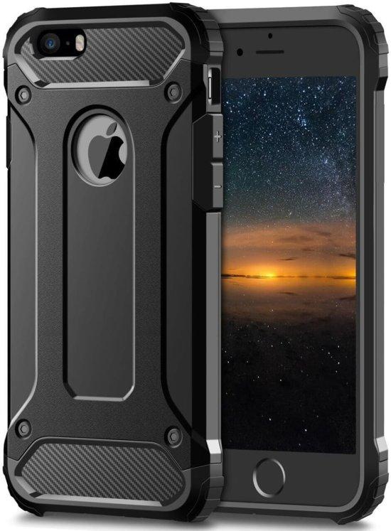 Apple iPhone SE Hybride Beschermhoesje Zwart