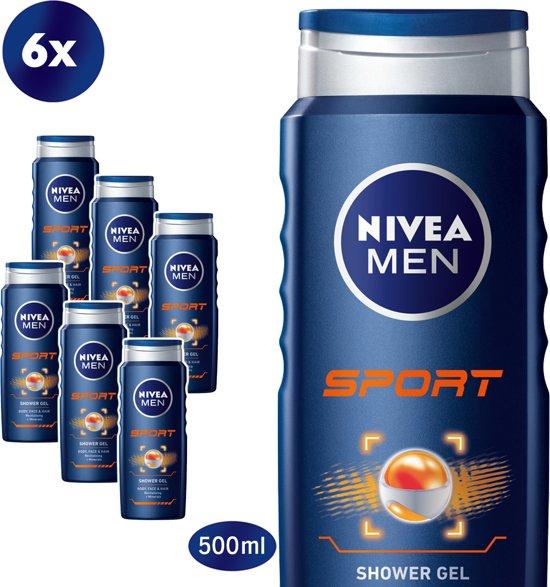 NIVEA MEN Sport Douchegel - 6 x 500 ml - Voordeelverpakking
