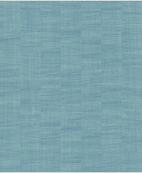 Beroemd bol.com | Botanical uni petrol behang (vliesbehang, blauw) TI69