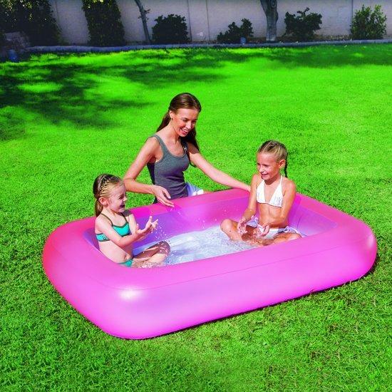 Rechthoekig babybadje opblaasbare bodem - Roze