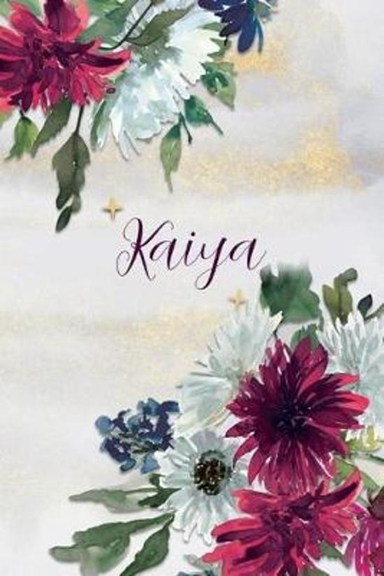 Kaiya: Personalized Journal Gift Idea for Women (Burgundy and White Mums)