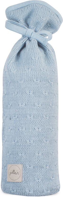 Jollein Soft knit  Kruikenzak soft blue