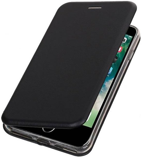 BestCases.nl Apple iPhone 7 Plus / 8 Plus Folio leder look booktype hoesje Zwart