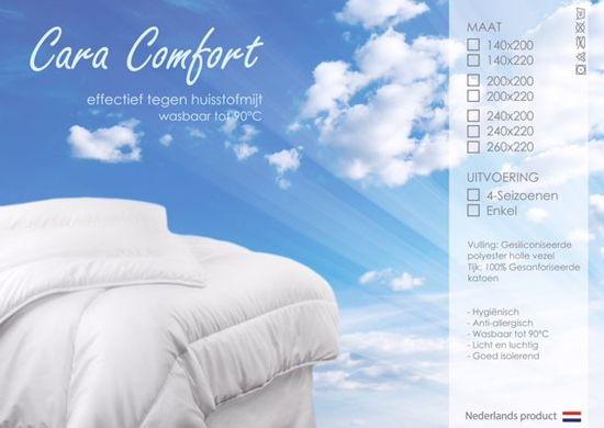 Cara comfort Dekbed 4 seizoen - 140x200 cm