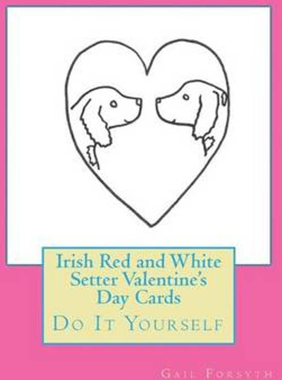Afbeelding van het spel Irish Red and White Setter Valentine's Day Cards