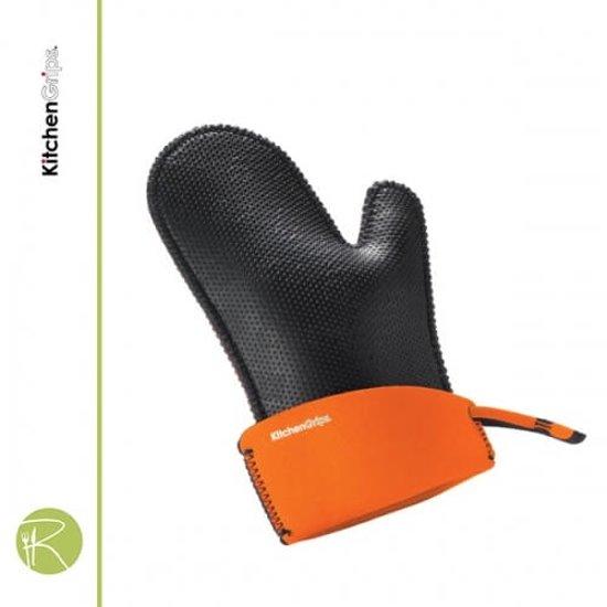 Ovenhandschoen - Kitchengrips - Chefs Mitt - black flxaprene - L - 28 cm