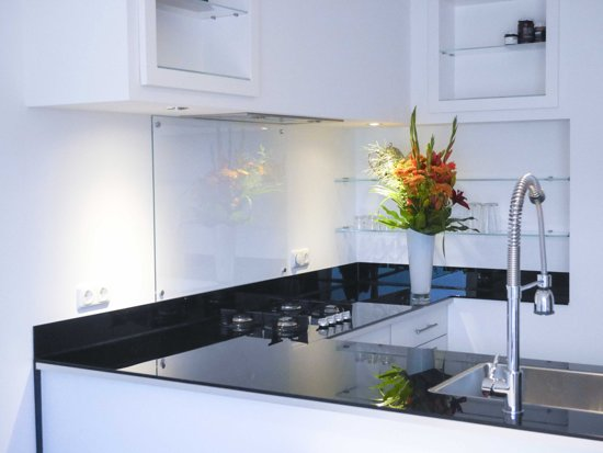 Bol glazen keuken achterwand
