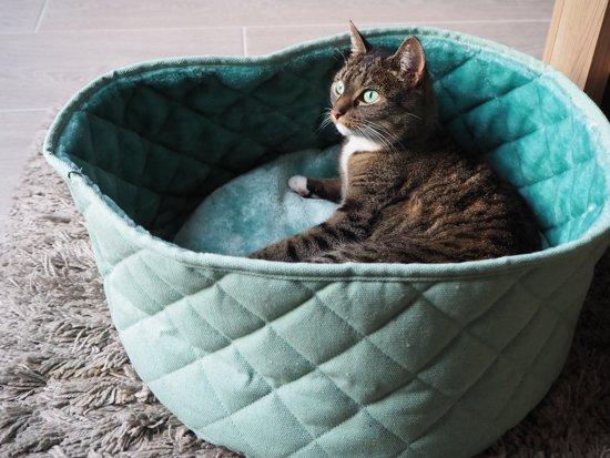 Nobby kattenmand 45x20cm canvas/bont Antraciet