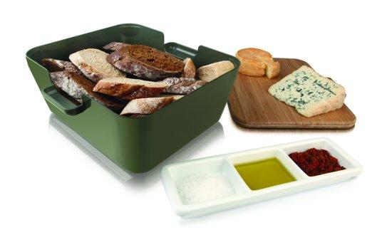 Vacuvin bread & dip serveerschaal