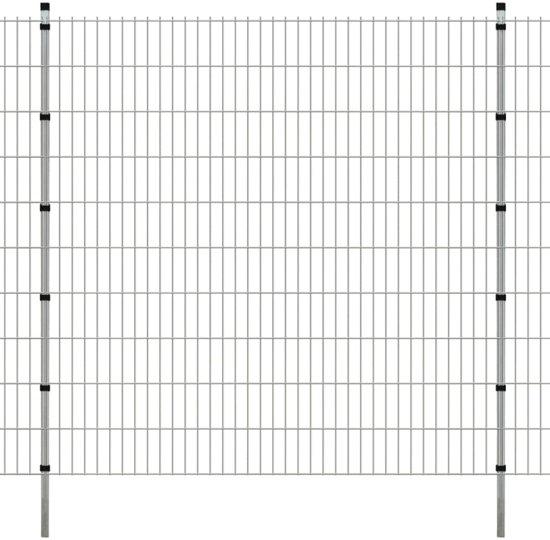 vidaXL Dubbelstaafmat 2008 x 2030 mm 16 m zilver 8 stuks