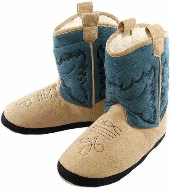 Pantoufles Bottes De Cow-boy Bleu Pour Les Hommes 8kba5b