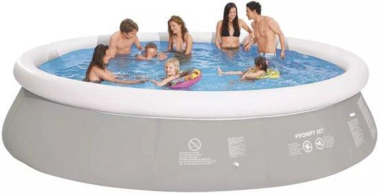 Opblaasbaar zwembad rond 450 x 122 cm (grijs)