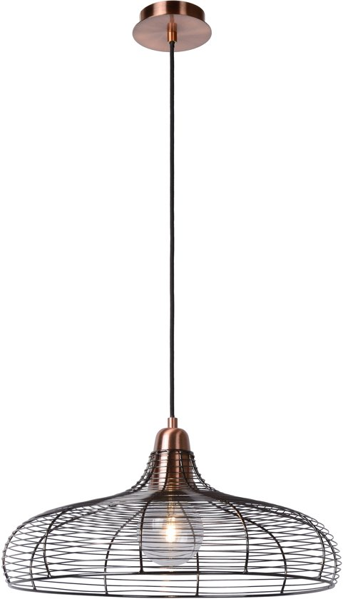 Lucide MOINO - Hanglamp - Ø 48 cm - Koper