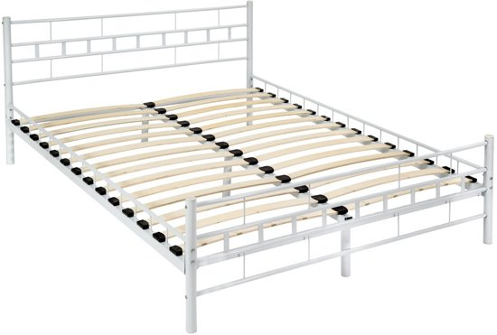 bol | bedframe metalen bed frame met lattenbodem 200*140 cm 401721