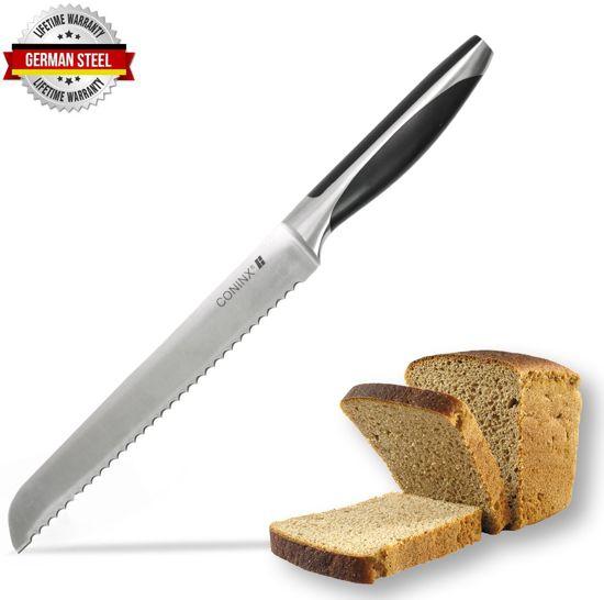 Coninx Broodmes Zwart Duits Staal ( Thyssen - Krupp 4116 ) - RVS Broodmes met Levenslange garantie Valentinaa