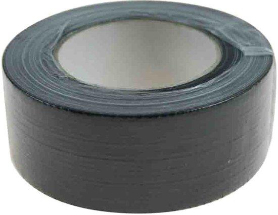 Profipack Ducktape zwart - 50mm x 50m - per rol