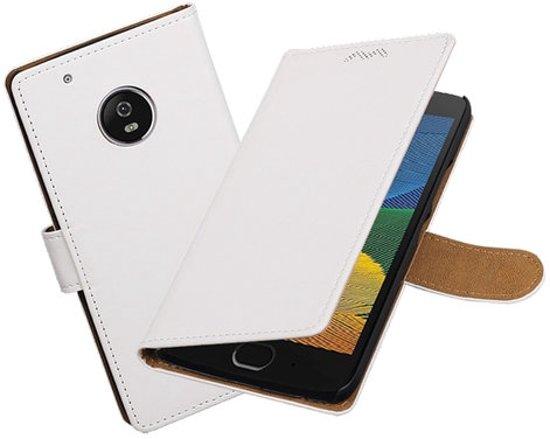 BestCases.nl Motorola Moto G5 Effen booktype hoesje Wit