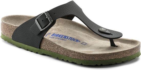 | Birkenstock Gizeh Heren Slippers Black Maat 42