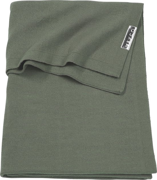 Meyco ledikantdeken Knit basic - 100x150 cm - forest green