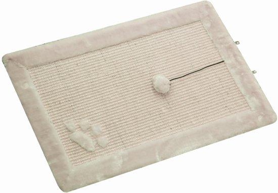 Nobby krabmat met speelbal en belletje beige 58 x 38 cm - 1 st