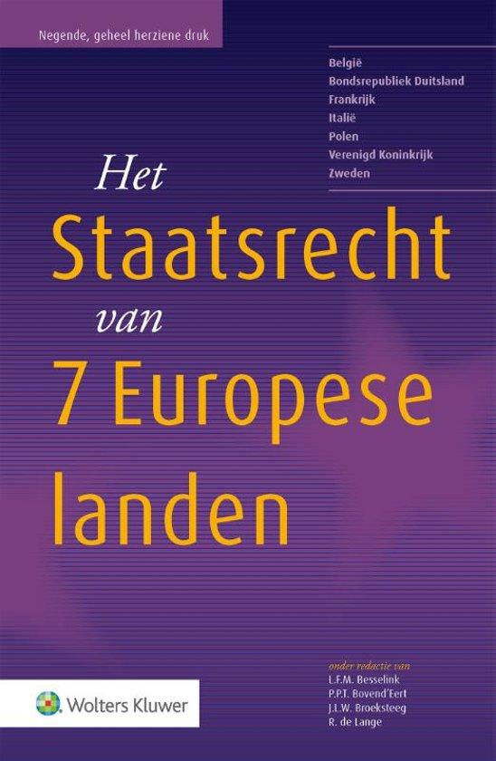 Boek cover Staatsrecht van de landen van de Europese Unie van L.F.M. Besselink (Paperback)