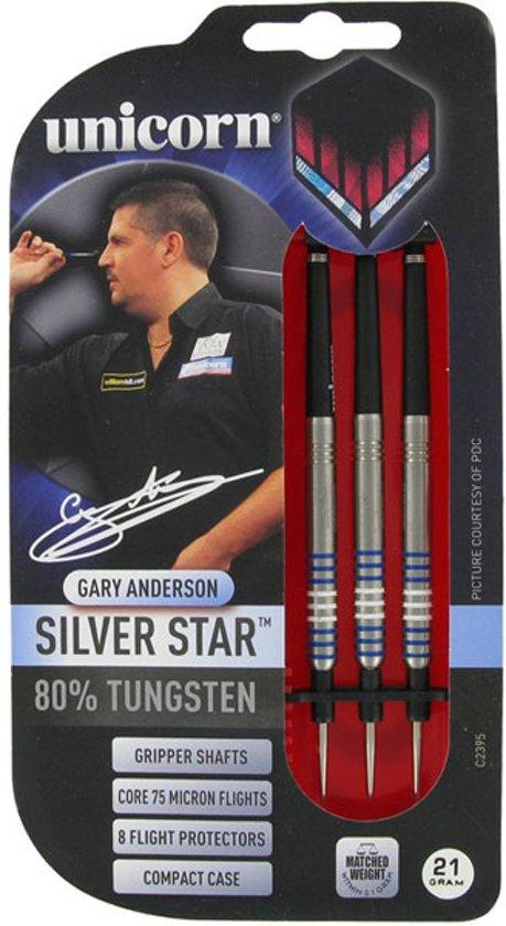 Unicorn Silverstar Gary Anderson 80% dartpijlen 21 - 23 gram - 23 gram