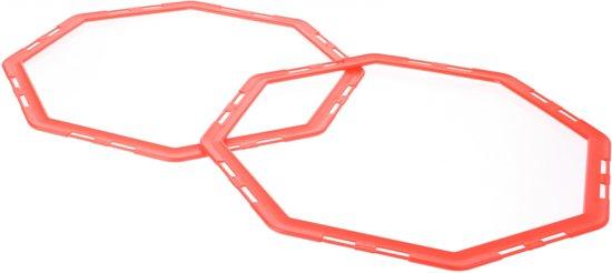 Sportec Hexagonale Speedrings Met Clips 12 Delig Rood