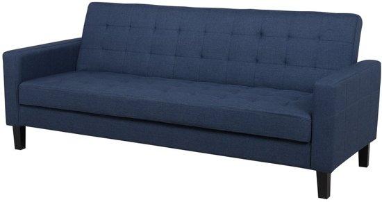 Beliani Vehkoo Slaapbank Blauw Stof 179x108
