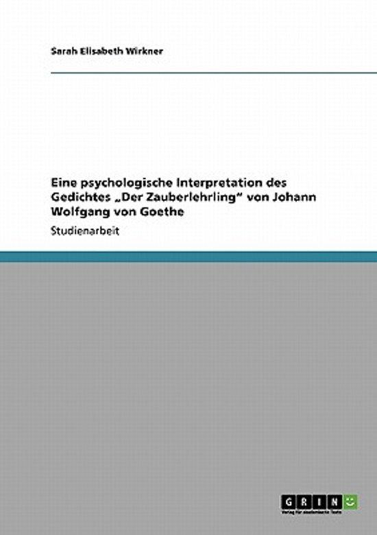 Bolcom Eine Psychologische Interpretation Des Gedichtes Der